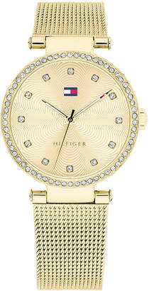 Tommy Hilfiger Women's Gold-Tone Stainless Steel Mesh Bracelet Watch 32mm