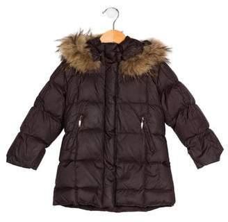 Eddie Pen Girls' Hooded Down Coat