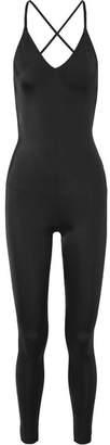 Norma Kamali Fara Open-back Stretch-jersey Jumpsuit - Black