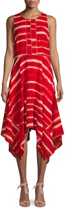 Donna Karan Tie-Dye Midi Dress