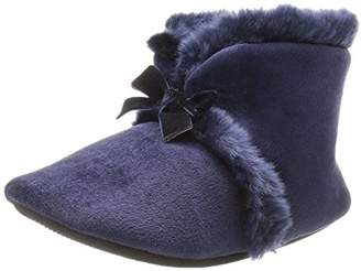 Isotoner Women's Velour Diane Bootie Slippers