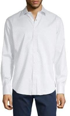 Bugatchi Tonal Check Print Button-Down Shirt