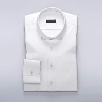 White soft brushed Oxford dress shirt
