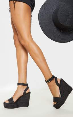 cf42a4f2d7b Black Espadrille Wedges - ShopStyle UK