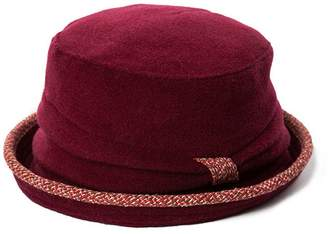 Siggi Womens 1920s Vintage Wool Felt Cloche Bucket Hat Winter Autumn Burgundy