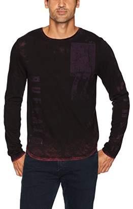 Buffalo David Bitton Men's Talec Long Sleeve Crewneck Graphic Fashion T-Shirt