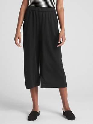 Gap Wide-Leg Crop Pants in Double-Face Knit