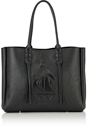 Lanvin Women's Tasseled-Handle Small Shopper Tote-BLACK $1,795 thestylecure.com