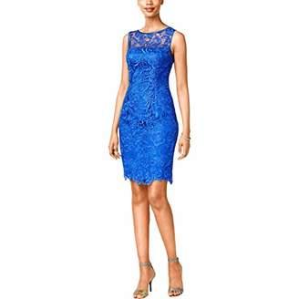 Adrianna Papell Women's Illusion Neckline Lace Dress