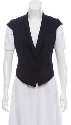 Helmut Lang Wool High-Low Vest