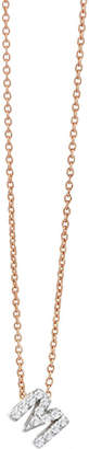 The Alkemistry Kismet by Milka M initial 14ct rose gold and diamond necklace