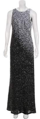 Carmen Marc Valvo Sequin Maxi Dress