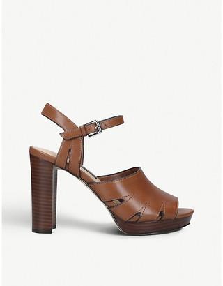 Nine West Delilah leather heeled platform sandals