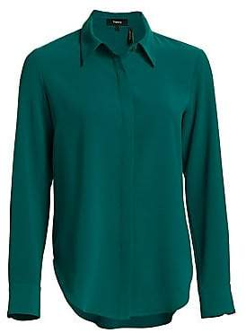 Theory Women's Sunaya Crepe Blouse