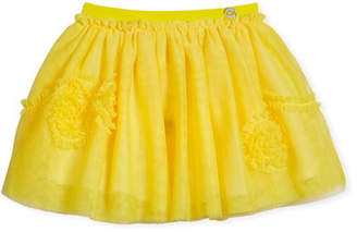 Mayoral Ruffle-Trim Tulle Skirt, Size 3-7