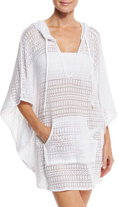 La Blanca Beyond the Beach Hooded Coverup Poncho $65 thestylecure.com