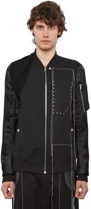 Rick Owens Embroidered Wool & Viscose Bomber Jacket