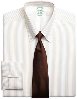 Brooks Brothers Original Polo Button-Down Oxford Milano Slim-Fit Dress Shirt, Alternating Bengal Stripe