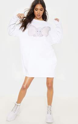 1b6d052da76 PrettyLittleThing White Dumbo Oversized Long Sleeve Jumper Dress