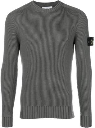 Stone Island logo fitted long-sleeve top
