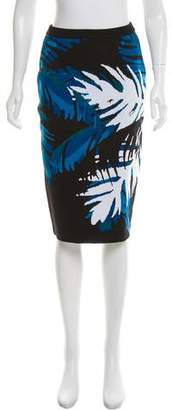 Timo Weiland Intarsia Knit Knee-Length Skirt