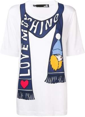 Love Moschino scarf print tee