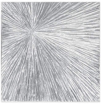 Madison Park Signature Sunburst Silver-Tone Resin Dimensional Box Wall Art
