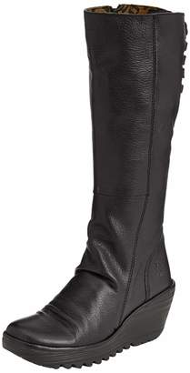 Fly London Womens Yust Mousse Leather Boots-UK 4