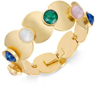 Kate Spade Gold-Tone Multi-Stone & Polished Disc Link Bracelet