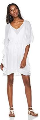 Beautiful Nomad Women's Ruffel Beach Dress Cover up Swimwear - Amazon Vine