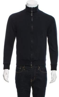 Bottega Veneta Funnel Neck Zip-Up Sweater