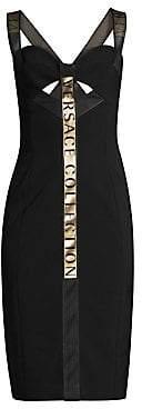 Versace Women's Logo Tape Dress