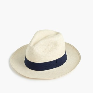Panama hat with navy band $65 thestylecure.com