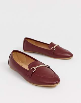 Raid RAID Viera oxblood snaffle detail flat shoes