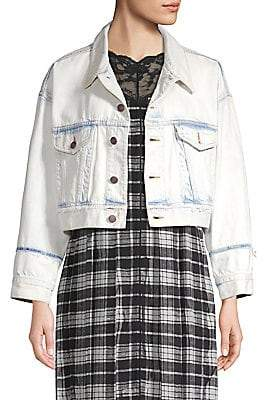 Marc Jacobs (マーク ジェイコブス) - Marc Jacobs Marc Jacobs Women's Oversized Cropped Denim Jacket