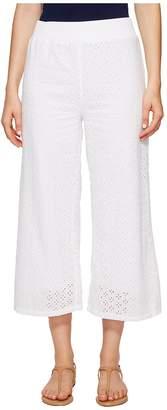 Mod-o-doc Cotton Eyelet Wide Leg Crop Pants Women's Casual Pants