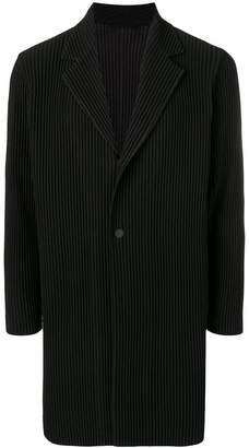 Issey Miyake Homme Plissé single breasted blazer coat