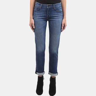 J Brand Amelia Mid-Rise Straight Jean in Decoy