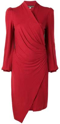 Plein Sud Jeans wrap knitted dress