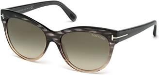 Tom Ford Sunglasses TF 430 Lily Sunglasses 20P Grey Gradient 56mm