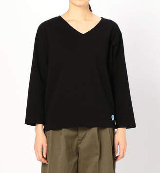 BSHOP (ビショップ) - ビショップ 【ORCIVAL】Vネック 長袖Tシャツ SO WOMEN