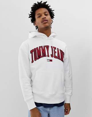 a594706b Tommy Jeans relaxed fit collegiate capsule hoodie in white