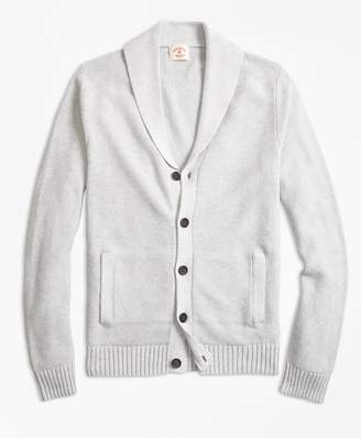 Brooks Brothers Seed-Stitch Cotton Shawl-Collar Cardigan