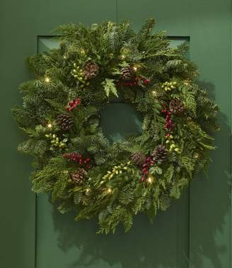 L.L. Bean L.L.Bean Woodland Berry Christmas Wreath, Lighted 24in