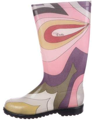 Emilio Pucci Printed Rubber Rainboots