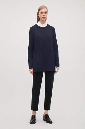 Cos TEXTURED COTTON JUMPER