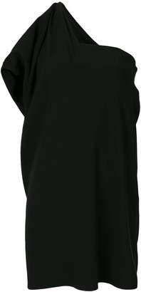 Paule Ka draped one shoulder dress