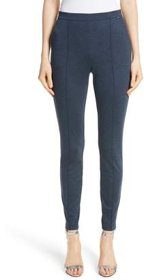 St. John Melange Stretch Ponte Crop Pants