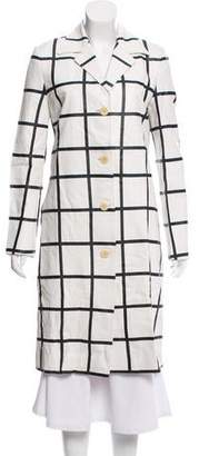 Ralph Lauren Checkered Leather Coat w/ Tags