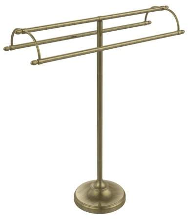 Allied Brass TS-30 Free Standing Double Arm Towel Stand